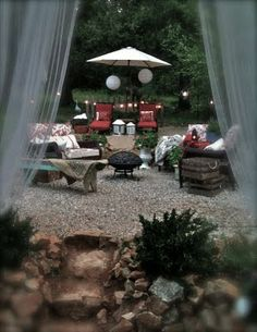 Pea gravel lounge area~ON THE PLANNING BOARD FOR EARLY NEXT SPRING! :)
