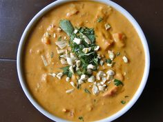 Vegan Thai Peanut Soup.