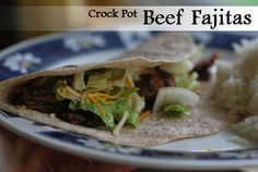 Crock Pot Beef Fajitas on http://www.stacymakescents.com  Loved these!