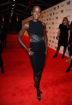 fashion, style, christopher kane, dress, red carpets, christoph kane, film festival, lupita nyongo, black