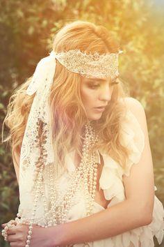 Wedding  Bohemian Headpiece- Bohemian wedding- Wedding headpiece-- Bohemian headpiece- Bridal headpiece- Wedding accessories