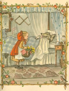 Little Red Riding Hood illustrated by Tasha Tudor red riding hood, hood illustr, ride hood