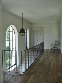 stair hall with window