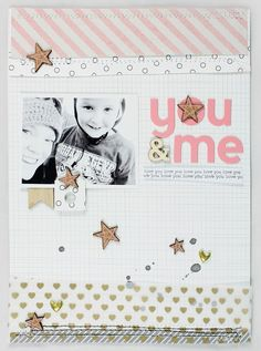 #papercraft #scrapbook #layout. You & Me by emma_kw at @studio_calico