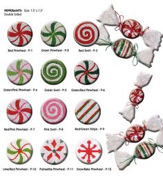 little shoppe canvas company needlepoint hard candy/peppermint/starlight mints canvases