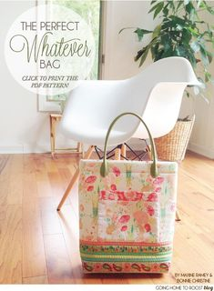 """The Perfect """"Whatever"""" Bag - Free Pattern by Bonnie Christine #sewing"""
