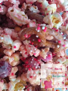Cupid's Crunch! Took this to teacher's at school and they loved it! It is deliciously addicting!