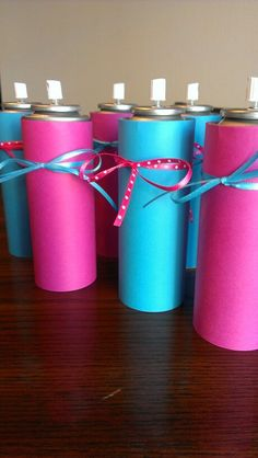 Silly string for the gender reveal party :) Cute idea- Spray on expecting couple to reveal gender (photo-op)