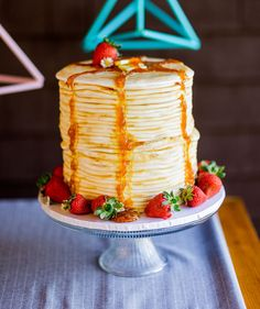 Pancake cake for breakfast food lovers
