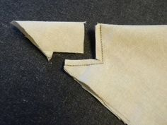 Mitered Corner trick!  Oh and the One-Size-Fits-All Placemats  Napkins tutorial from Coats-and-Clark