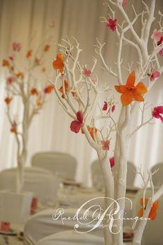 white branches, longer minus flowers, add white lights?