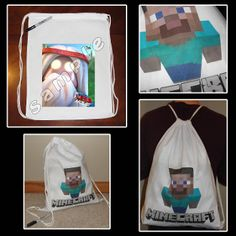 plant, minecraft, drawstr sport, birthday invit, zombi, sports, parti favor, lego, sport pack