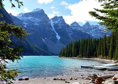 Moraine Lake near Lake Louise, Canada: http://www.ytravelblog.com/what-to-do-in-banff-canada/ #travel