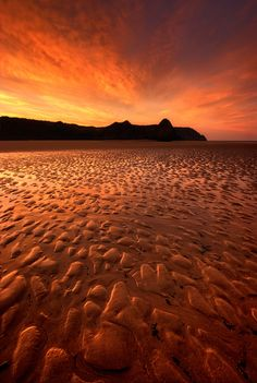 Sunrise at Three Cliffs Bay, Gower, South Wales
