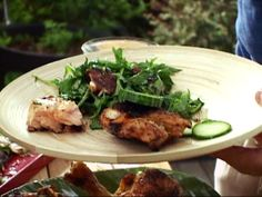 Recipe- Teriyaki Chicken with Pickled Cucumbers by Bobby Flay. #Paleo #GlutenFree #LowCarb #TeamBobby!
