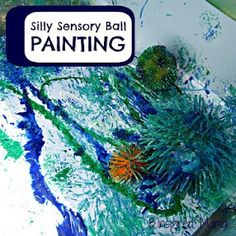 Use these silly sensory balls to paint with. Check out the texture!