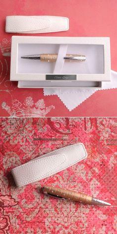 Personalized Champagne Swarovski Glitz Pen from Wedding Favors Unlimited