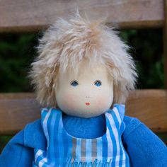 Handmade Waldorf Boy Dress Up Doll made in Germany. From Bella Luna Toys www.bellalunatoys.com
