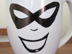 Harley Quinn Inspired 14 oz Mug by ChantillyStay on Etsy, $10.00 https://www.etsy.com/listing/151200153/harley-quinn-inspired-14-oz-mug