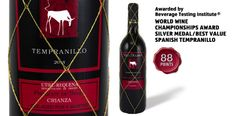 "Viña Decana Tempranillo - awarded ""World Wine Championships Award Silver Medal/Best Value Spanish Tempranillo"" by the Beverage Testing Institute."