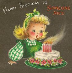 Happy birthday to someone nice. #cake #vintage #birthday #card #cute