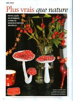 Mushrooms by La Fille du Consul in Marie-Claire idées (Décembre 2013)