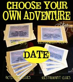 Choose Your Own Adventure Date- this looks hilarious! #groupdate