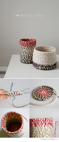 A Woman's Haven: Idea File: DIY Rope Baskets