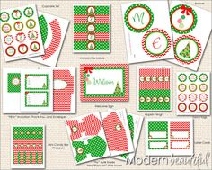 INSTANT DOWNLOAD Christmas Printable Party Package