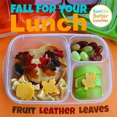 BentOnBetterLunches : Fruit Leather Leaves!