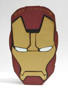 An Iron Man greeting card. By Jennifer Ingle.