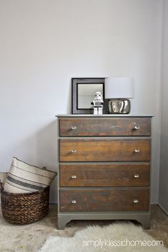 Two toned rustic dresser