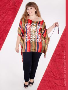 blusa Trio's original y colorida #plus size #tallas grandes