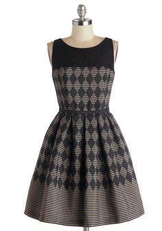 Promoting Elegance Dress in Diamonds, #ModCloth