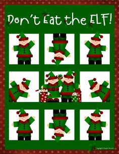 Don't Eat the Elf! (Like Don't Eat Pete game)