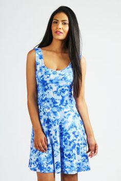 tye dye dress in blue