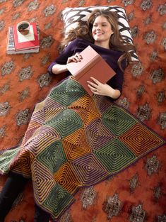 Geometric Afghan - Free pattern from Lion Brand