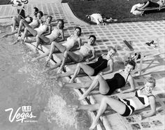 Legs for days. Sahara Chorus Line by the pool March 29,1957