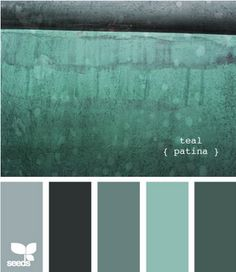 color combo, color palettes, bathroom colors, patina, design seeds, color schemes, kitchen colors, bedroom colors, design bathroom