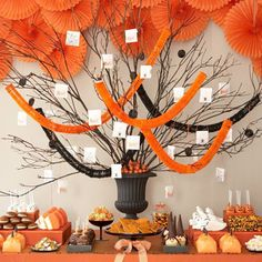 halloween dessert table spread