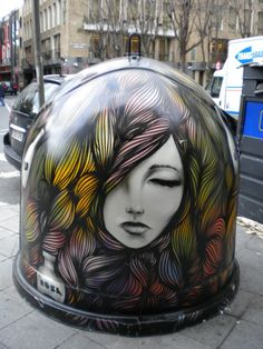 There is something so fascinating about this piece that I cannot get over. People say street are is graffiti, I say its just adding beauty to the world!