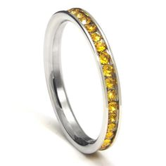 TOPSELLER! 316L Stainless Steel Citrine Yellow C... $0.01