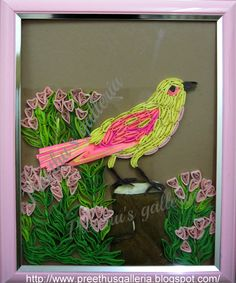 Image detail for -Quilled bird -by Preethu's Gallery