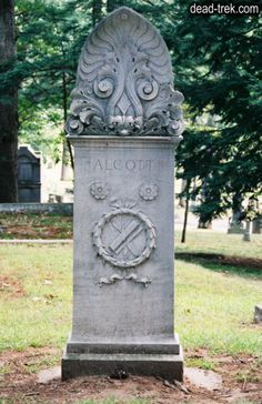 """Amos Bronson Alcott (1799 - 1888). He was an innovative educator, a leading slavery abolitionist, a women's rights advocate, a founder of a vegan community, an architect and artist, an author of several books and the father of """"Little Women"""" author Louisa May Alcott.     Alcott was laid to rest in the Sleepy Hollow Cemetery in Concord, MA. See his Find A Grave page at http://ancstry.me/1cdKZnL   Photo credit: Dead-Trek.com"""
