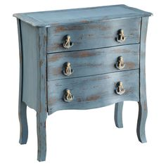 Batteau Accent Chest ~ love the anchor and rope pulls~