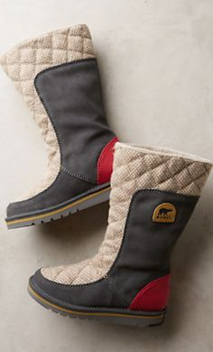 love these fleece lined Sorel boots #anthrofave http://rstyle.me/n/rr4tmr9te