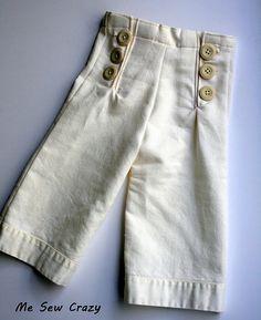free Sailor Pants tutorial,