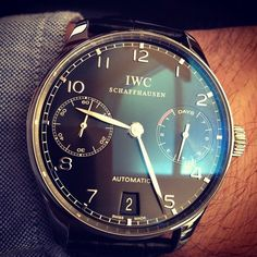 As I mentioned before, watches have become popular for menswear once again but with a different look. Recently a dark face and/or a more classic style to it. Another major trend within men's watches appears to have a bigger circular face as well and a thinner rim around the outside for a clean, simple, and slick appearance. Chelsea H.