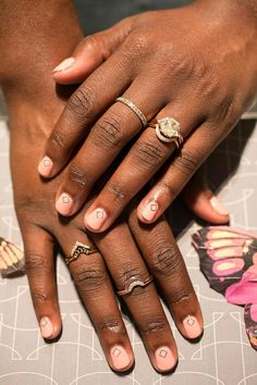 Cool nail art to match your new engagement ring!