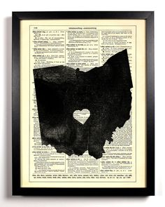Ohio State Map Dictionary Book Print Upcycled Book Art Upcycled Vintage Book Print Antique Dictionary Buy 2 Get 1 FREE. $6.99, via Etsy.